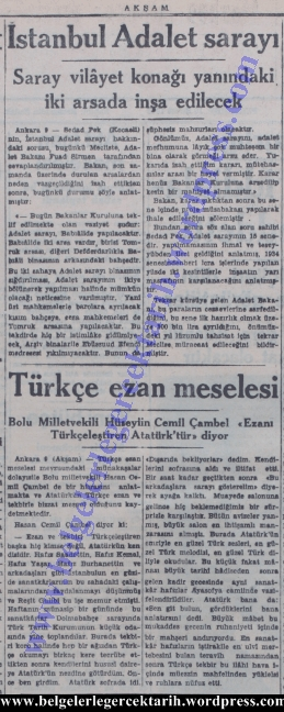 atatürk ezani yasakladi mi, ezan yasagi atatürk, inönü ezan, chp ezan, Atatürk Türkce Ezan, Inönü Türkce Ezan, Inönü Ezan, Atatürk Allahu Ekber Hasan Cemil Cambel Ezan