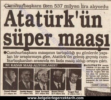 Atatürkün maasi, Atatürkün malvarligi, Atatürkün serveti, M. Kemal'in maasi, M. Kemal'in serveti, M. Kemal'in mal varligi