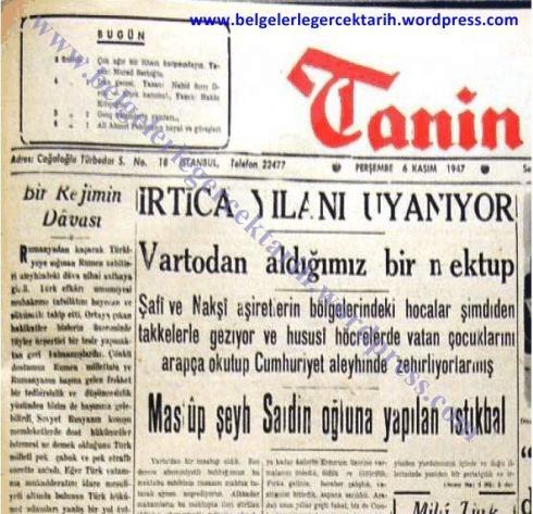 naksibendi-din-islam-irtica-kemalizm-chp-kemal-atatc3bcrk-tanin-gazetesi-yilan