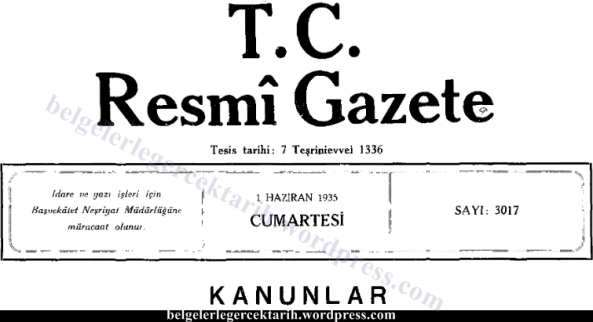 Atatürk cuma tatili cuma günü tatili cuma namazi chp hakki kilic cuma günü pazar oldu belge resmi gazete 1