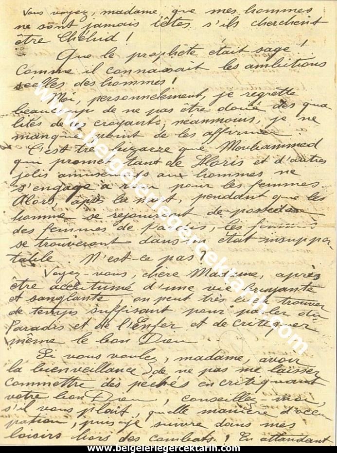 m. kemal atatürkün madame corinne yazdigi mektup 20 temmuz 1915 atatürk madam corinne 2
