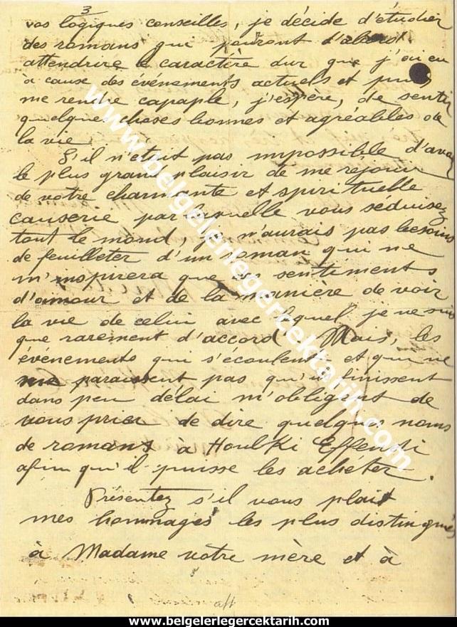 m. kemal atatürkün madame corinne yazdigi mektup 20 temmuz 1915 atatürk madam corinne 3