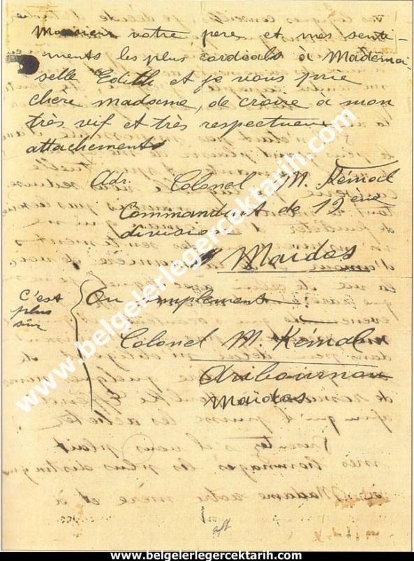m. kemal atatürkün madame corinne yazdigi mektup 20 temmuz 1915 atatürk madam corinne 4