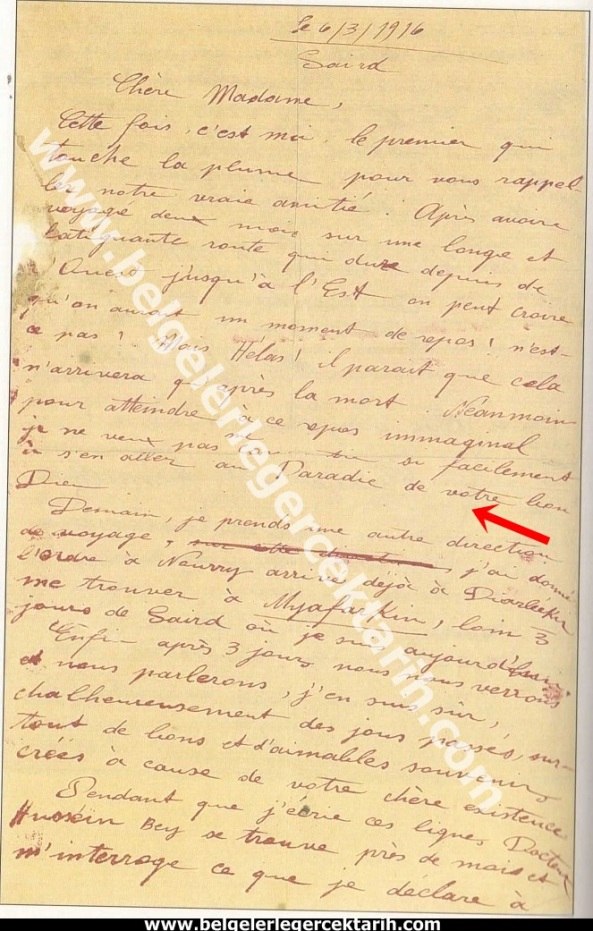 m. kemal atatürkün madame corinne yazdigi mektup 6 mayis 1916 atatürk madam corinne