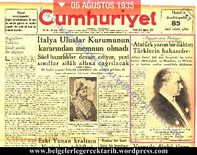 Atatürk yarim ilahtir, Atatürk yarim bir ilahtir, Atatürk tanridir, Atatürkü tanrilastirma temayülü