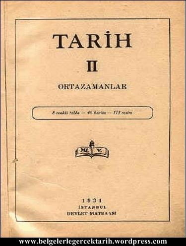 kemal atatürk ortazamanlar lise tarih kitabi 1931 kapak