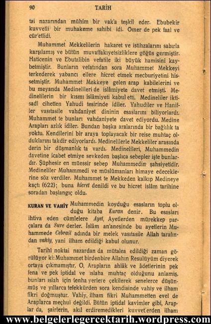 kemal atatürk ortazamanlar lise tarih kitabi 1931 sayfa 90