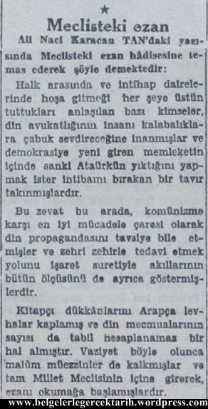 ali naci karacan din zehir tan gazetesi 7 subat 1949