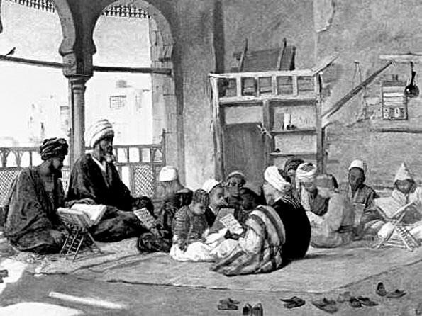 Osmanli okur yazar oranlari, türkiye okur yazar Kuzey Afrika'da bir Sıbyan Mektebi