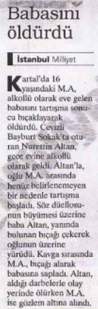 29.03.1999, Milliyet, Sayfa 3 alkolün zararlari ickinin zararlari alkol suc
