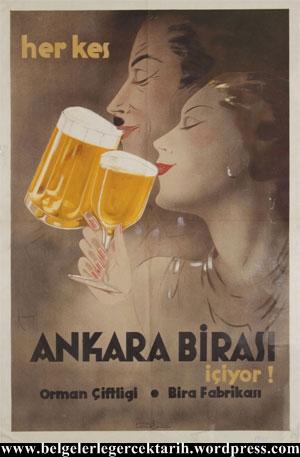 herkes bira iciyor atatürk bira fabrikasi ankara bira fabrikasi halk ickisi atatürk icki bira reklami bira afisi icki reklami