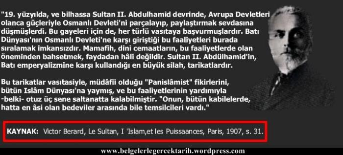 Victor Berard Sultan Abdülhamid ve tarikatlar Abdülhamid Panislamizm