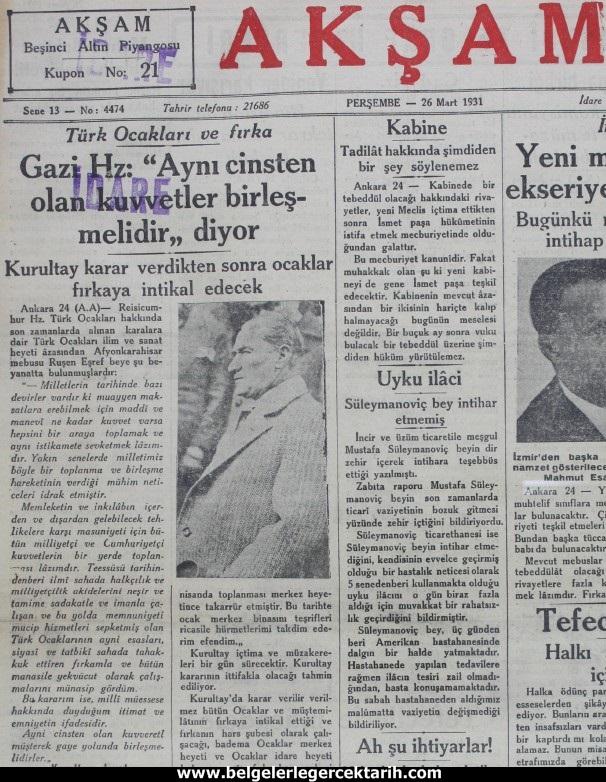 Ataturk Mason Localarini Kapatti Mi Belgelerle Gercek Tarih