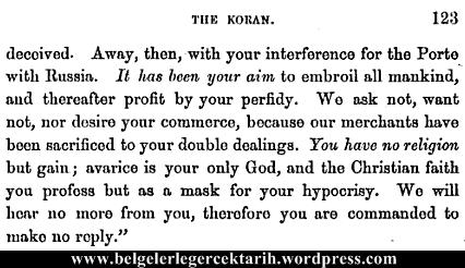 Osmanlinin sahsiyeti John Davenport Hazreti Muhammed ve Kuran 7
