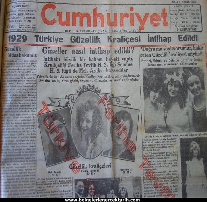atatürk güzellik yarismasi kemal güzellik yarismasi cumhuriyet gazetesi 2