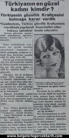 atatürk güzellik yarismasi kemal güzellik yarismasi cumhuriyet gazetesi 3