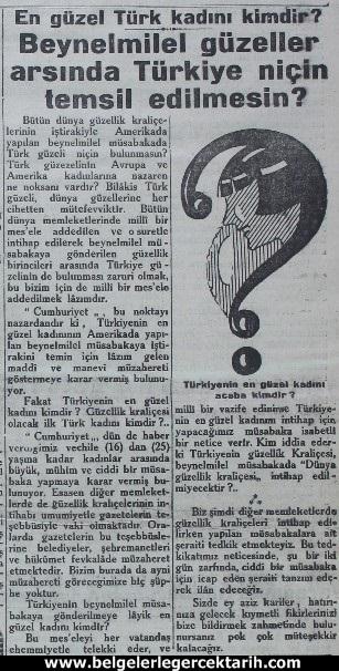atatürk güzellik yarismasi kemal güzellik yarismasi cumhuriyet gazetesi 5