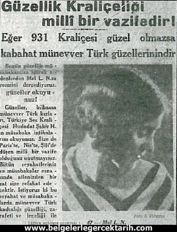 atatürk güzellik yarismasi kemal güzellik yarismasi cumhuriyet gazetesi 7