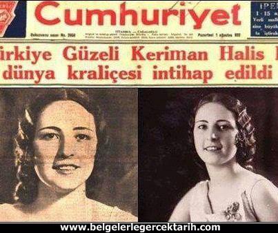 atatürk güzellik yarismasi kemal güzellik yarismasi cumhuriyet gazetesi keriman halis belcika spa 2
