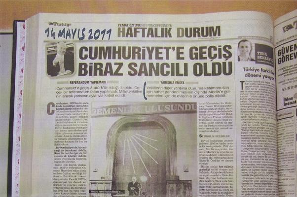 cumhuriyet nasil ilan oldu, cumhuriyet nasil kuruldu, atatürk nasil cumhurbaskani oldu yilmaz öztuna türkiye gazetesi,