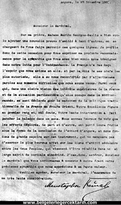 m. kemal atatürk fransiz ajani, atatürk fransiz casus atatürk ajan lyautey atatürkün mektubu atatürk general lyautey