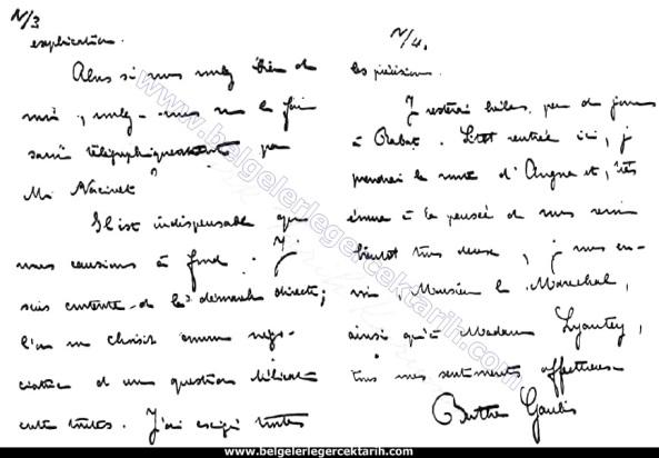 madam berthe gaulis m. kemal atatürk gaulis maresal lyautey mektup gaulis ajan 2