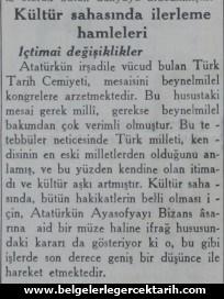 ismet inönü ayasofya müze ayasofya cami m. kemal atatürk cumhuriyet gazetesi sayfa 7 zoom