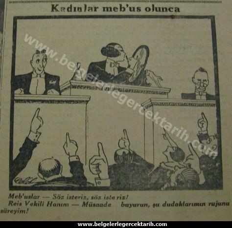 atatürk secme hakki kadinlar secme ve secilme hakki nezihe muhiddin gazetesi 31 mart 1930 cumhuriyet