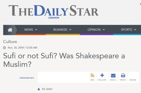 shakespeare müslüman mi shakespeare seyh pir seyh peer kadir misiroglu seyh pir, kadir misiroglu shakespeare ali jaafar daily star