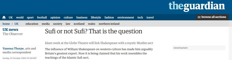 shakespeare müslüman mi shakespeare seyh pir seyh peer kadir misiroglu seyh pir, kadir misiroglu shakespeare the guardian vanessa thorpe