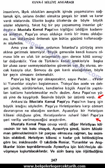 grace mary ellison a englishwoman in angora m. kemal ayasofya atatürk ayasofya kim kapatti, imza ayasofya cami müze, Atatürk papa, m. kemal sayfa kuva-i milliye ankarasi sayfa 247