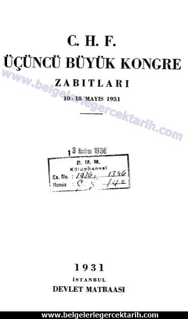 M. Kemal atatürk meclis, atatürk cumhuriyet recep peker chp ücüncü kongresi m. kemal atatürk kapak