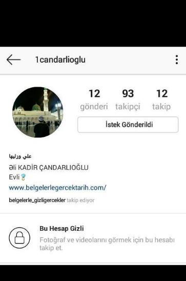 instagramdaki sahtekar kadir candarlioglu ismini böyle kullanmisti. Delil 6