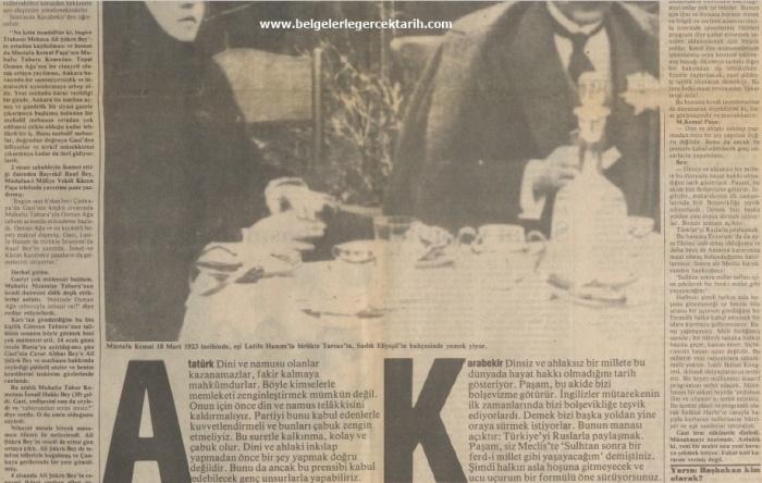 Kazim Karabekir hatiralar ugur mumcu cumhuriyet gazetesi, namusu olanlar kazanamazlar, nasil hiristiyan olacaktik, arapoglunun yaveleri 18 haziran 1990 cumhuriyet 3