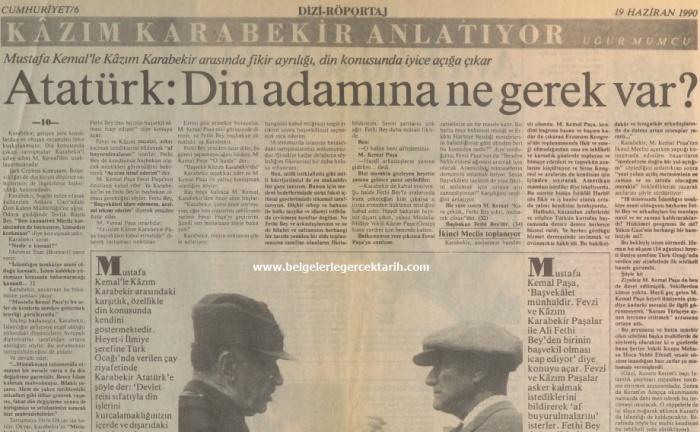 Kazim Karabekir hatiralar ugur mumcu cumhuriyet gazetesi, namusu olanlar kazanamazlar, nasil hiristiyan olacaktik, arapoglunun yaveleri 2