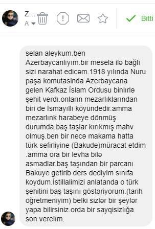 Azerbaycandan bir hocamiz, Nuri Pasa, sehit mezari
