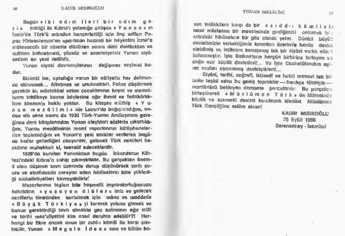 Kadir Misiroglu Yunan mezalimi Keske yunan galip gelseydi sözü 17