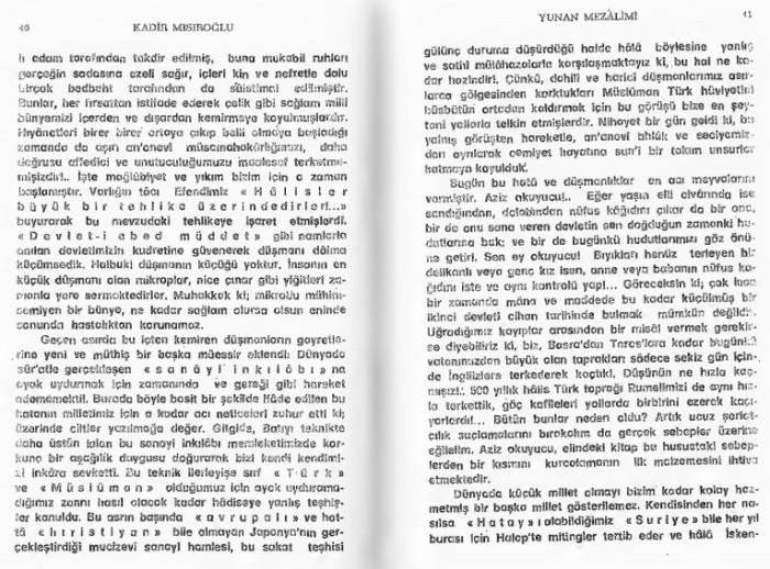 Kadir Misiroglu Yunan mezalimi Keske yunan galip gelseydi sözü 19