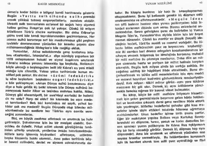 Kadir Misiroglu Yunan mezalimi Keske yunan galip gelseydi sözü 20