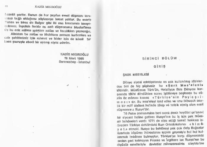 Kadir Misiroglu Yunan mezalimi Keske yunan galip gelseydi sözü 21