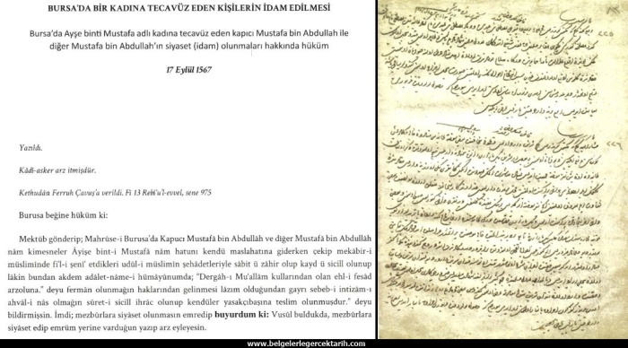 osmanlida kadina tecavüze idam