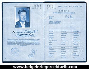 nazim hikmet yahudi mi konstantin borzecki nazim hikmet polonyali mi, nazim hikmetin pasaportu