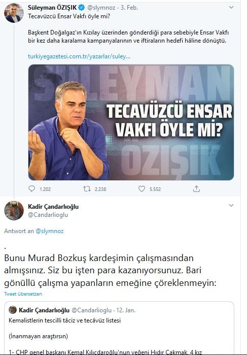 Murad Bozkus kemalistlerin tescilli taciz ve tecavüz listesi Süleyman Özisik intihal2