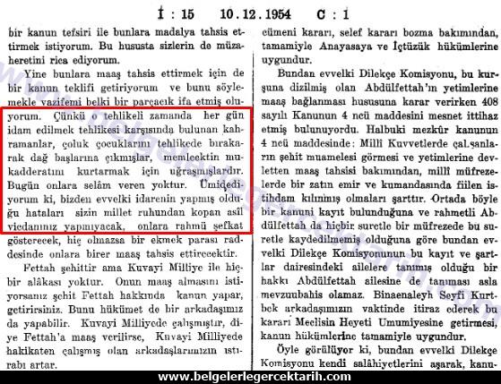TBMM Zabit Ceridesi, Devre 10, Cild 3, Inikat 15, sayfa 64, 65, 10 Aralik 1954 2