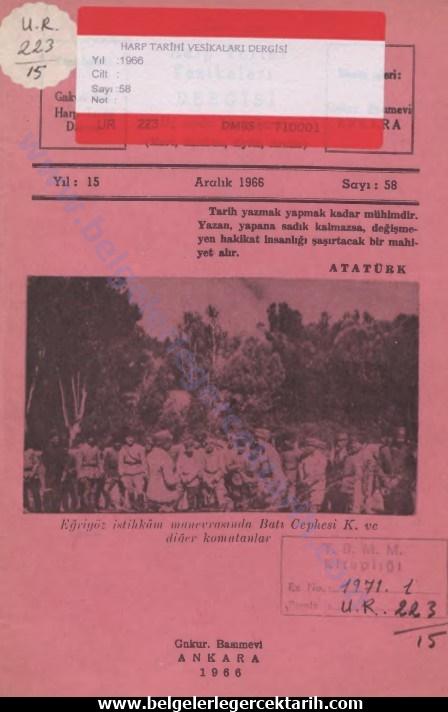 Bu görselin boş bir alt özelliği var; dosya ismi: harp-tarihi-vesikalari-dergisi-yil-15-aralik-1966-sayi-58-genelkurmay-basimevi-ankara-1966m.-kemal-pasaya-gazilik-ve-musirlik-verilmesi.jpg